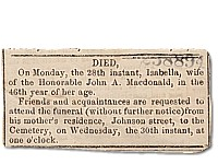 Isabella�s Death Notice