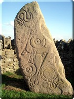 Pictish Serpent Stone