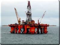 North Sea Drilling Rig