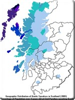 Gaelic speakers in Scotland 2001