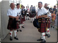 Scottish Society Pipe Band Prepares