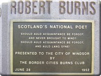 Burns Memorial Plaque