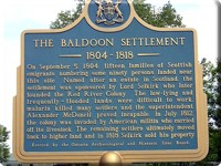 The Baldoon Settlement